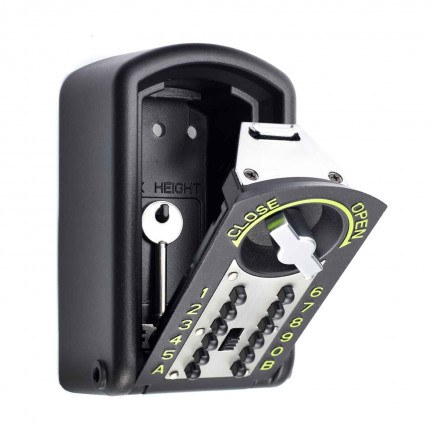 Keyguard Digital XL LPCB Certified and Tested High Security Key Safe - key safe open with a key