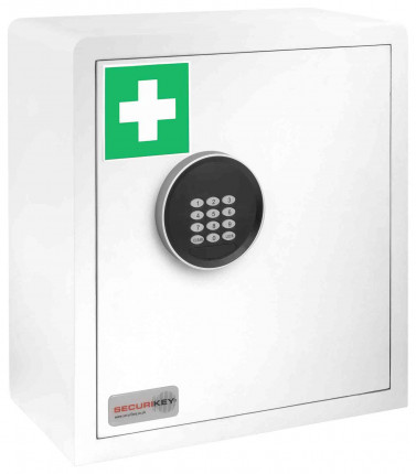Securikey MC180D-ZE Drug & First Aid Electronic Wall Safe