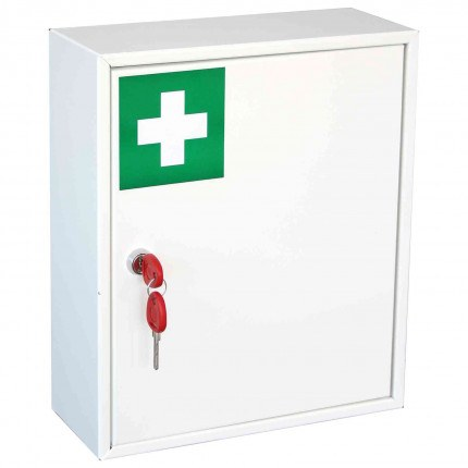 Securikey KFAK01 Wall Mounted First Aid Key Locking Cabinet - door closed