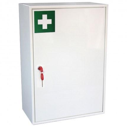 Securikey KFAK03 Wall Mounted First Aid Key Locking Cabinet - door closed showing keys