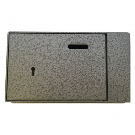 Key Secure 2 Brick Alms Box for Wall fitting - closed door