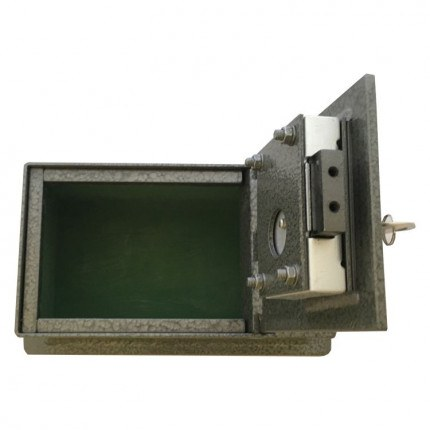Key Secure KS2 Brick Wall Fitted Security Safe - door open
