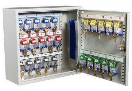 Key Secure KS25P Padlock Storage Cabinet for 25 Padlocks