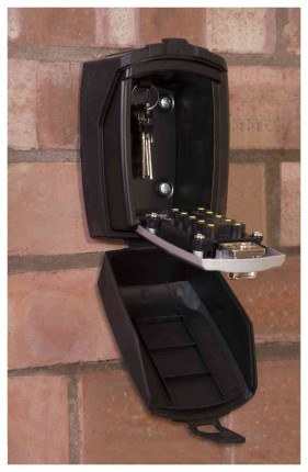 Phoenix Key Store KS0003C - fixed to wall and open