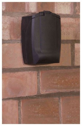 Phoenix Key Store KS0003C - fixed to wall with weather cover on