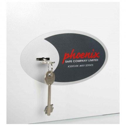 Phoenix Cygnus KS0031K 30 hooks Key Locking Key Cabinet - key lock close up