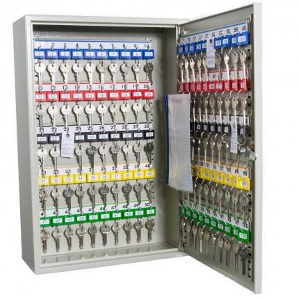 Key Secure KS100D Deep Key Cabinet 100 hooks - Key Cam Lock open
