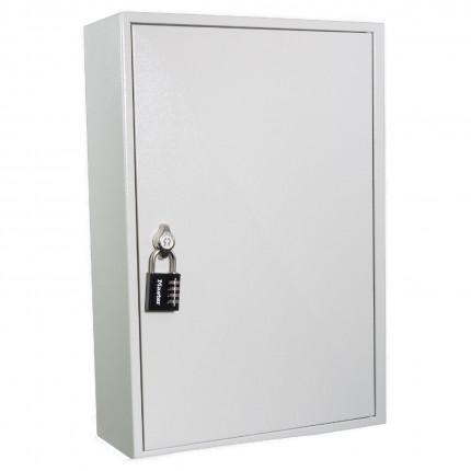 KeySecure KS100D Deep Key Cabinet 100 hooks - Padlock Hasp Lock