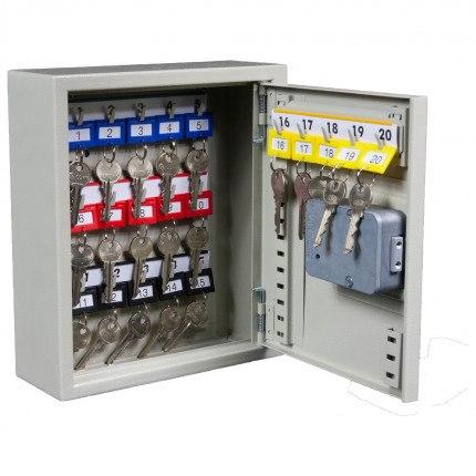Key Secure KS20-EC-AUDIT Key Cabinet Electronic 20 Keys with door open