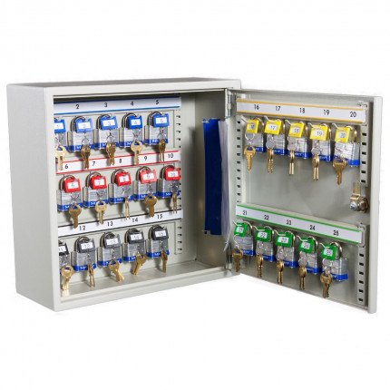 Key Secure Car Key Cabinet for 25 Bunches of Keys Open