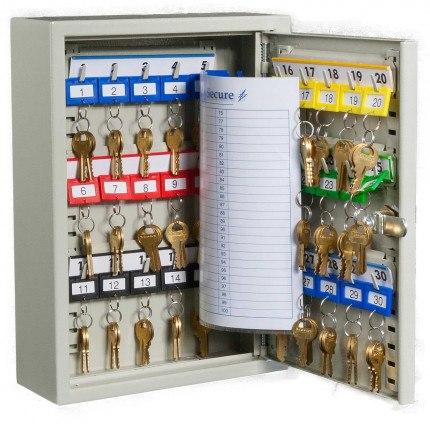 KeySecure KS30 Key Cabinet 30 keys Electronic Cam Lock door open
