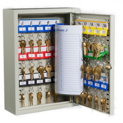 Key Secure KS20XL-E Electronic Locking 20 Hook Key Storage Cabinet - door open