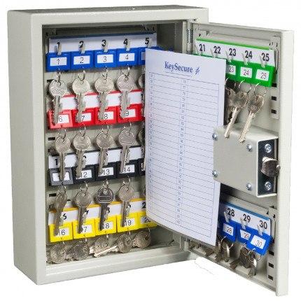 Key Secure KS20 Key Cabinet 20 keys Push Button Lock - open