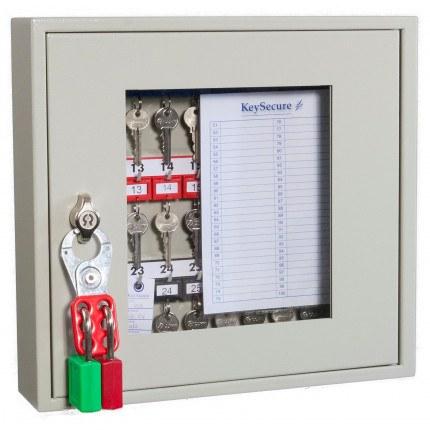 KeySecure KS30V Key View Window Cabinet 30 Keys - Padlock Hasp Lock