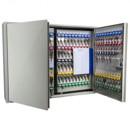 Key Secure KS400 Key Cabinet 400 hooks showing mechanical digital lock from inside
