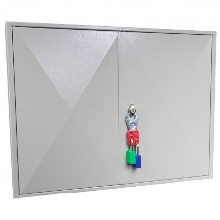 Key Secure KS400 Key Cabinet 400 hooks - Padlock Hasp Lock