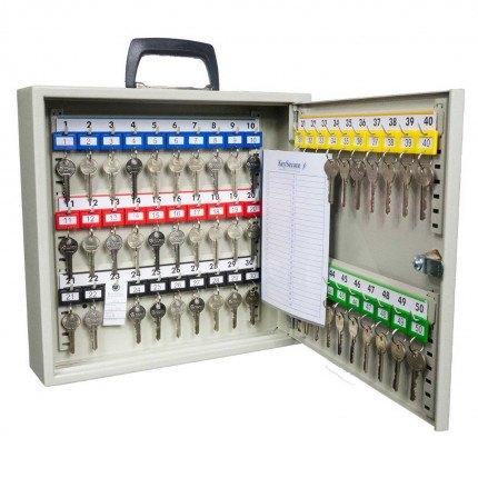 KeySecure KS50M Portable Cabinet Key Lock with carrying handle door open