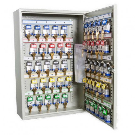 Key Secure Key Cabinet for 50 Bunches of Keys Open