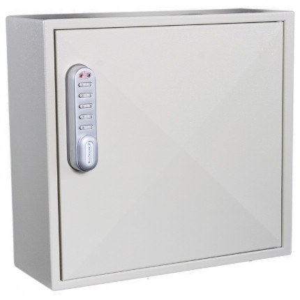 KeySecure KS50D-E Deep Electronic Digital Key Cabinet 50 Keys - door closed