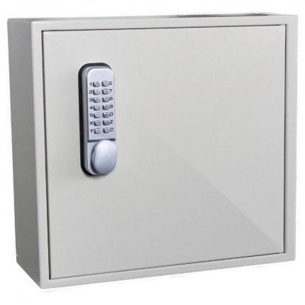 Key Secure KS50D Deep Mechanical Digital Key Cabinet 50 Keys - door closed