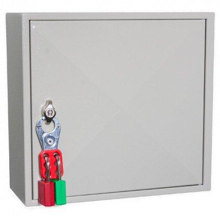 Key Secure KS50D Deep Key Cabinet 50 Hooks - Padlock Hasp Lock