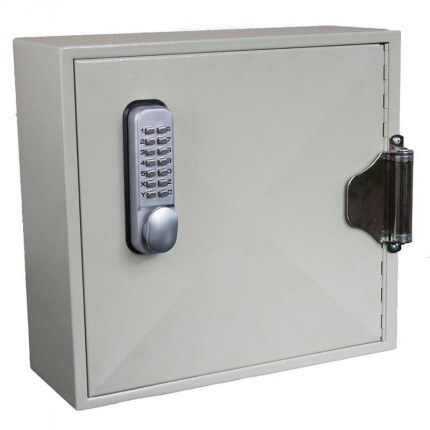 Key Secure Car Key Cabinet for 25 Bunches of Keys with automatic self closing door