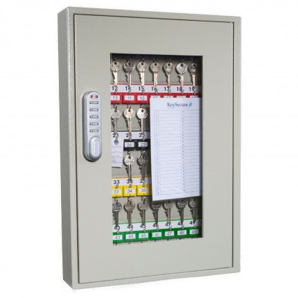 KeySecure KS25CV-E Car Key View Window Cabinet Electronic 25 Hooks