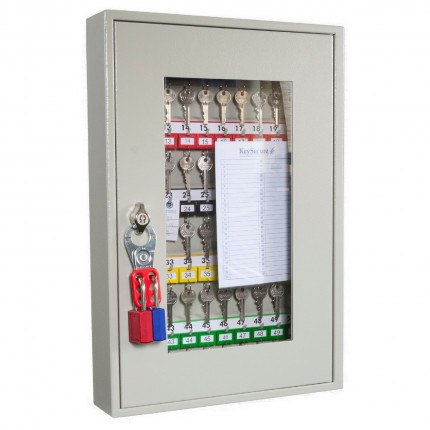 KeySecure KS50V Key View Window Cabinet 50 Keys - Padlock Hasp Lock