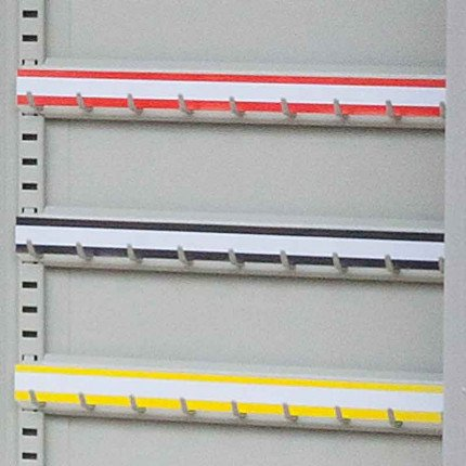KSE1500 - Blank Self Adhesive Hook Bar Label Strips