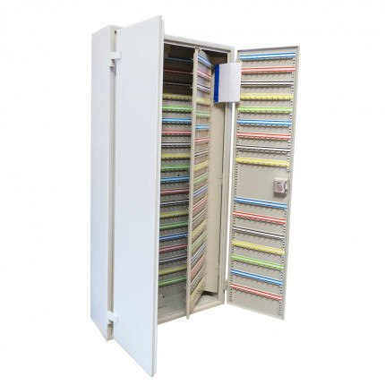 Extra Large 1500 Hook Key Cabinet - stores between 1500 and 3000 keys fitted with the euro profile key lock