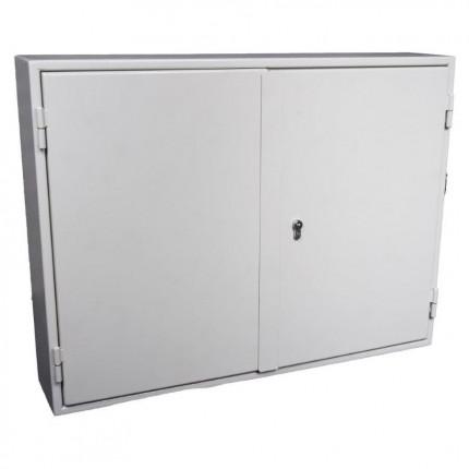 100 Hook Deep Security Car Key and Vehicle Transponder Storage Cabinet Euro Lock 100 Hooks - Key Secure KSE100P - door closed