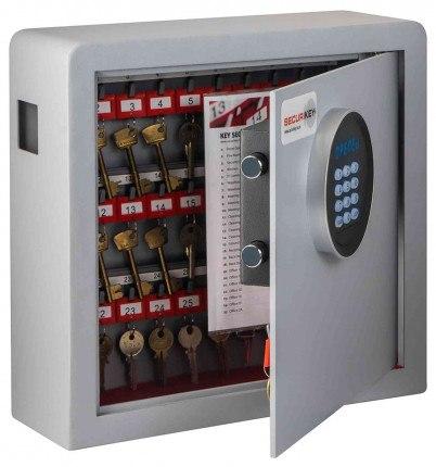 Securikey Electronic Key Storage & Key Deposit Safe 38 Keys - door ajar