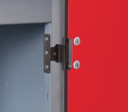 Probe Low Steel Laminate Inset 2 Door Locker - Door hinge detail