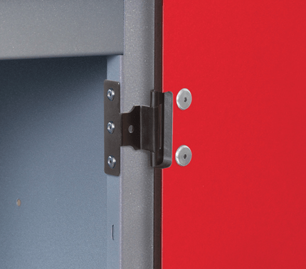 Probe Laminate Inset 2 Door Locker with Door Hinge Detail