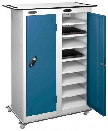 Probe LapBox 2 Door 16 Laptop Blue Charging Trolley Locker