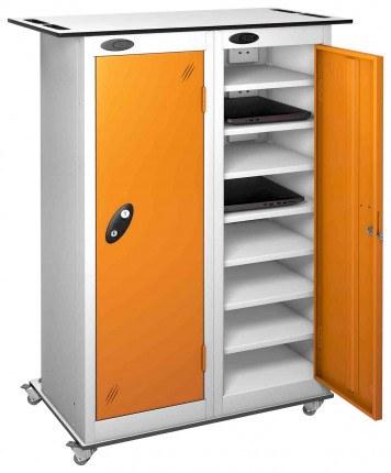 Probe LapBox 2 Door 16 Laptop Orange Storage Trolley Locker