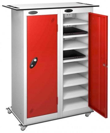 Probe LapBox 2 Door 16 Laptop Red Storage Trolley Locker