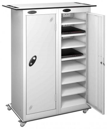 Probe LapBox 2 Door 16 Laptop White Storage Trolley Locker