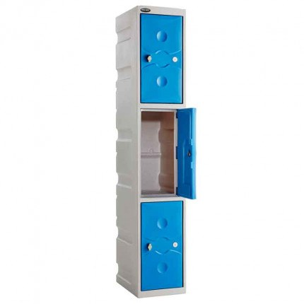 Probe UltraBox 3 Door Plastic Locker blue