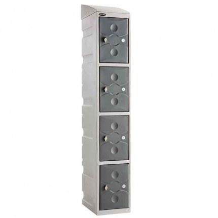 Probe UltraBox Plus Waterproof 4 Door Plastic Locker c/w optional sloping top