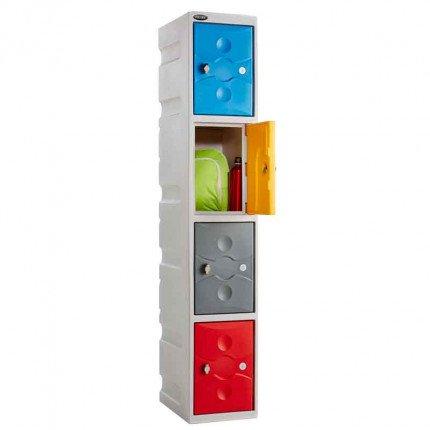 Probe UltraBox 4 Door Plastic Locker showiung multi colour door option