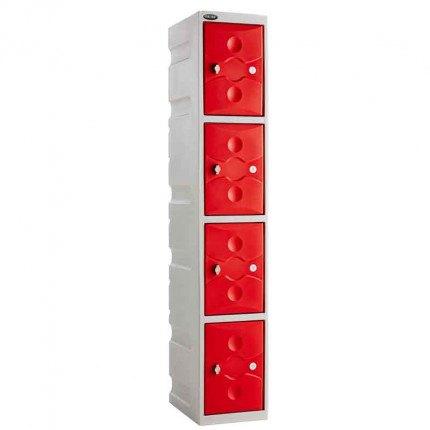 Probe UltraBox Plus Waterproof 4 Door Plastic Locker Red