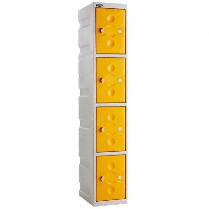 Probe UltraBox 4 Door Plastic Locker Yellow doors