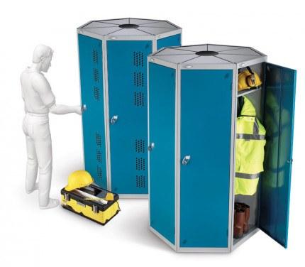 Probe 7 Door Steel Locker showing capacity and ventilation options