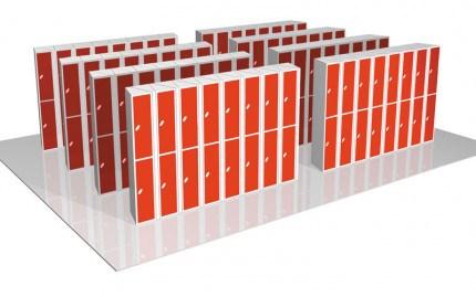Probe 7 Door Steel Locker showing the seeded lockers in an alternative formation