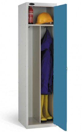 Probe PPE-CD Clean and Dirty PPE Locker showing internal shelf and divider to separate clean from soiled clothing
