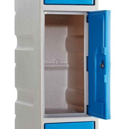 Probe UltraBox Weather Resistant 3 Door Plastic Locker door open