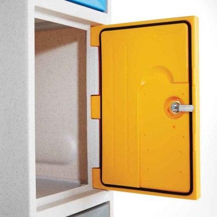 Probe Ultrabox Plus showing the Waterproof Door Seal to ensure the locker is absolutely waterproof for outdoor use