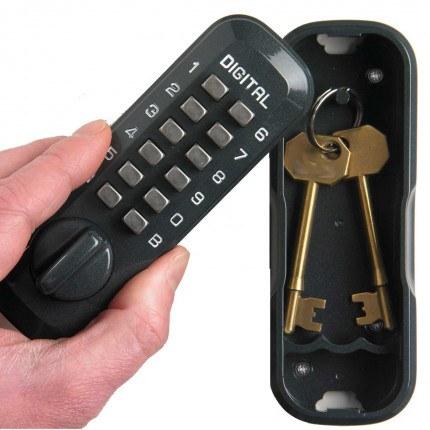 Lockey Digital Spare Door Key Safe - Dark Green