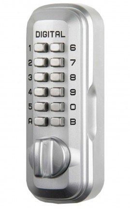 Lockey Digital Spare Door Key Safe - Satin Chrome